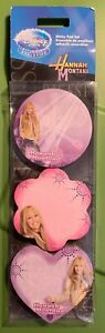 Hannah Montana Disney Store New Package Set Of 3 Sticky Notes Pads Nip