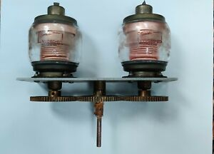 Dual Eimac Vvc 60 20 Vacuum Variable Capacitors With Control Gears