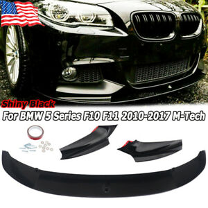 Front Bumper Lip Spoiler For 10 17 Bmw F10 F11 M Sport 5 Series Glossy Style