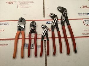 Lot Of Knipex Pliers And Matco 3 Knipex Alligator Knipex Cobalt Matco Cut