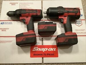 2 Snap On Cordless Tools Ct7850 1 2impact Cdr7850h 1 2 Drill W Batteri