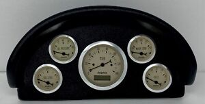 1956 Ford Truck Abs Dash Panel 5 Gauge Programmable Tan