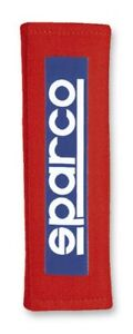 Sparco Harness Pads Belt Pad 3in Red Racing