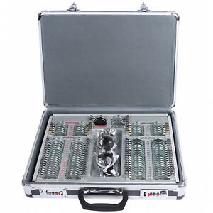 104pcs Optical Optometry Trial Lens Set Metal Rim Aluminum Case Free Trial Frame