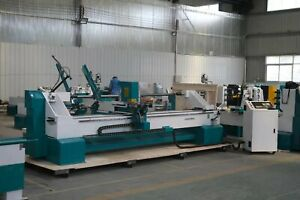 Auto Feeding 4 Axis Cnc Wood Turning Milling Lathe For Curved Table Chair Legs