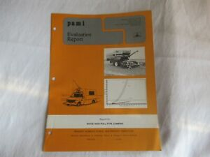 1978 White 8650 Pull type Combine Performance Evaluation Report Data Brochure