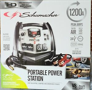 Schumacher 1200a Portable Power Station Sj1332 New In Sealed Factory Box