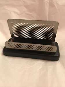 Business Card Holder Display Stand Black And Silver
