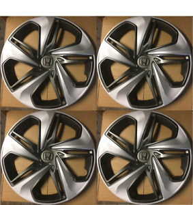 4 Hubcaps That Fits 2019 2020 Honda Civic 16 Wheel Covers Silver Charcoal