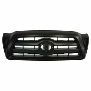 Front Grille Black Fits 2005 2006 2007 2008 2009 2010 2011 Toyota Tacoma