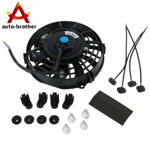 Universal 7 Inch Slim Fan Push Pull Electric Radiator Cooling 12v Mount Kit