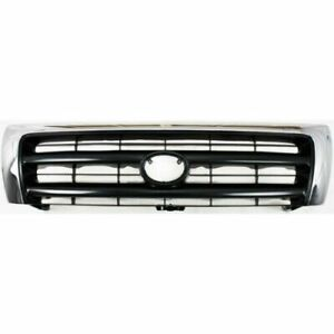 Front Grille 4wd Chrome Fits 1998 1999 2000 Toyota Tacoma4wd