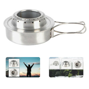 Stainless Steel Backpackers Alcohol Stove Outdoor Ultralight Mini Burner