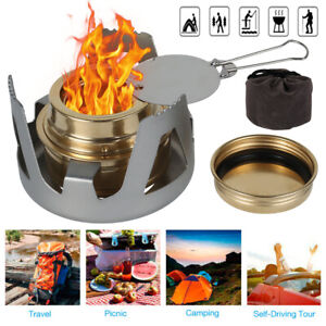 Mini Portable Spirit Burner Alcohol Stove For Outdoor Hiking Camping Picnic Ps