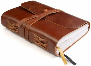 Leather Bound Notebook Blank Pages Hand crafted Genuine Leather Notebook 5x7