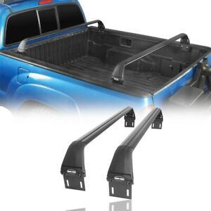 Full Length Abs 2pc Crossbars Bed Rack Fit Toyota Tacoma 2005 2021 2nd 3rd Gen