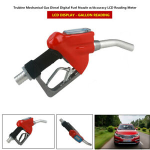 Mechanical Gas Diesel Digital Fuel Nozzle System W lcd Reading Meter 0 25mpa