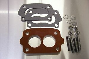 Fits Chevy Tri Power Riser Rochester Small 2g Carb Spacer Phenolic Riser 1 4 K