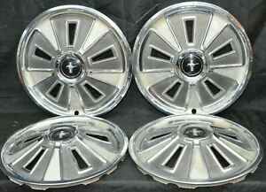 1966 Ford Mustang Hubcaps 14 Vintage Set Of 4 H 997 66 Wheel Covers Oem Used