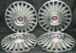 1967 Ford Mustang Hubcaps 14 Vintage Set Of 4 H 630 67 Wheel Covers Oem Used