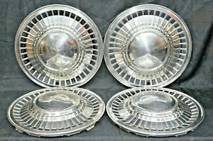 1961 Ford Galaxie Starliner Fairlane Hubcaps 14 Wheel Covers Oem Set Of 4