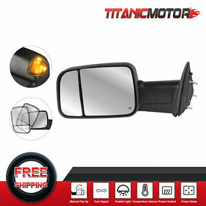 1x Driver Side Power Heated Towing Mirror For 2010 2018 Dodge Ram 1500 2500 3500
