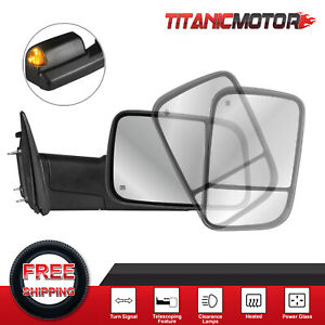 Passenger Side Power Heated Tow Mirror For 2010 2018 Dodge Ram 1500 2500 3500