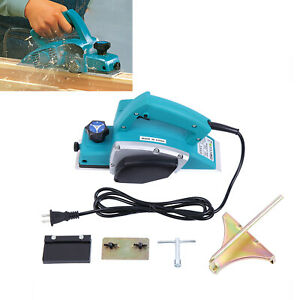 800w Powerful Electric Wood Hand Planer Woodworking Surface 11000prm 3 28 Width
