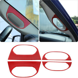 4x Inner Top Handle Frame Decor Stickers For Dodge Ram 1500 2010 15 Accessories
