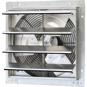 Iliving Gable Mount Shutter Fan Vent 1200 Cfm Aluminum Electric Powered