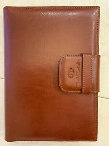Vintage Day Planner Organizer Renato Balestra Not Dated Brown Leather