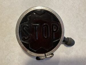 Antique Automible Red Amber Embossed Lens Tail Light Stop Light