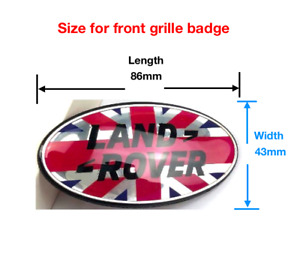 Union Flag Front Grille Emblem Badge For Range Rover Sport Evoque Velar Discover
