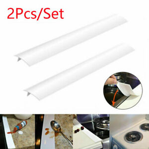 Kitchen White Silicone Counter Stove Gap Cover Oven Guard Spill Seal Slit Filler