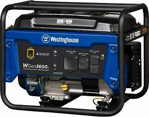 Westinghouse Wgen3600v Gas Powered Portable Generator 3600 Rated And 4650 Peak