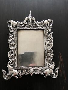 Fine Anglo Indian Solid Silver Photo Frame