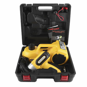 5 Ton 12v Dc Electric Car Hydraulic Floor Jack Impact Wrench Kit 17 7in Lift