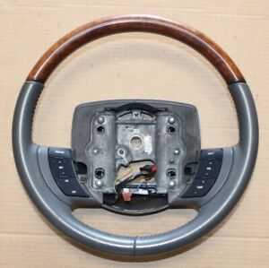 05 11 Ford Crown Victoria Cvpi Lincoln Town Car Leather Steering Wheel Cruise