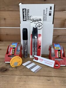 Packing Tape Kit 3m Scotch Tape Olfa Touch knife Sharpie King Uline Cutter