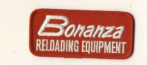 Bonanza Reloading Equipment 4.5quot;x2quot; Red White Tab Embroidered Advertising Patch $11.25