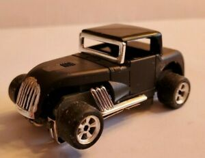 Hot Rod All Black Ultra G Chassis Tjet Ho Slot Car New Rims And Tires