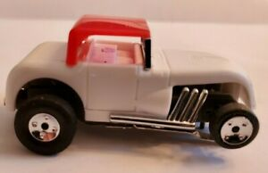 Hot Rod White Red Top Ultra G Chassis Tjet Ho Slot Car New Rims And Tires