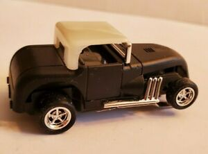 Hot Rod Black White Top Ultra G Chassis Tjet Ho Slot Car New Rims And Tires