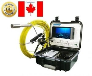 Sewer Drain Pipe Cleaning Inspection Video Snake 1 Camera 100 Foot Cable 7 Lcd