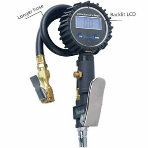 300 Psi Digital Tire Inflator With Pressure Gauge Air Chuck For Truck Cars Bike