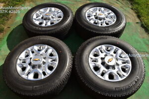18 Chevy Silverado 2500 3500 Oem Wheels Tires Gmc Sierra 2021 Michelin