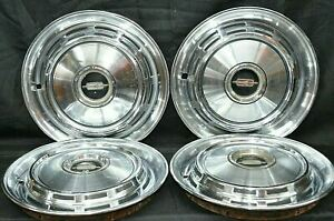 1968 Oldsmobile Cutlass Hubcaps Delta 88 F85 14 Wheel Covers Used Oem Set Of 4
