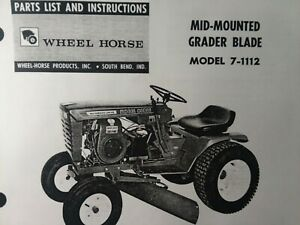 Wheel Horse Tractor 42 Push Plow Center Grader Blade Owner Parts 2 Manuals