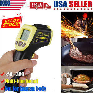 Non Contact Lcd Digital Infrared Thermometer Temperature Ir Gun Industrial 2021