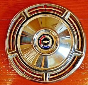 1968 68 Chevy Chevrolet Chevelle Hubcap Hub Cap Wheel Cover Used One Single